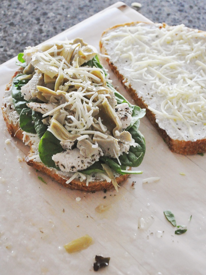 Spinach Artichoke Panini with Roasted Chicken
