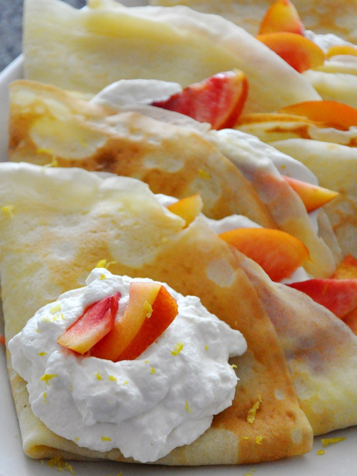 Lemon Cream Crepes with FreshNectarines